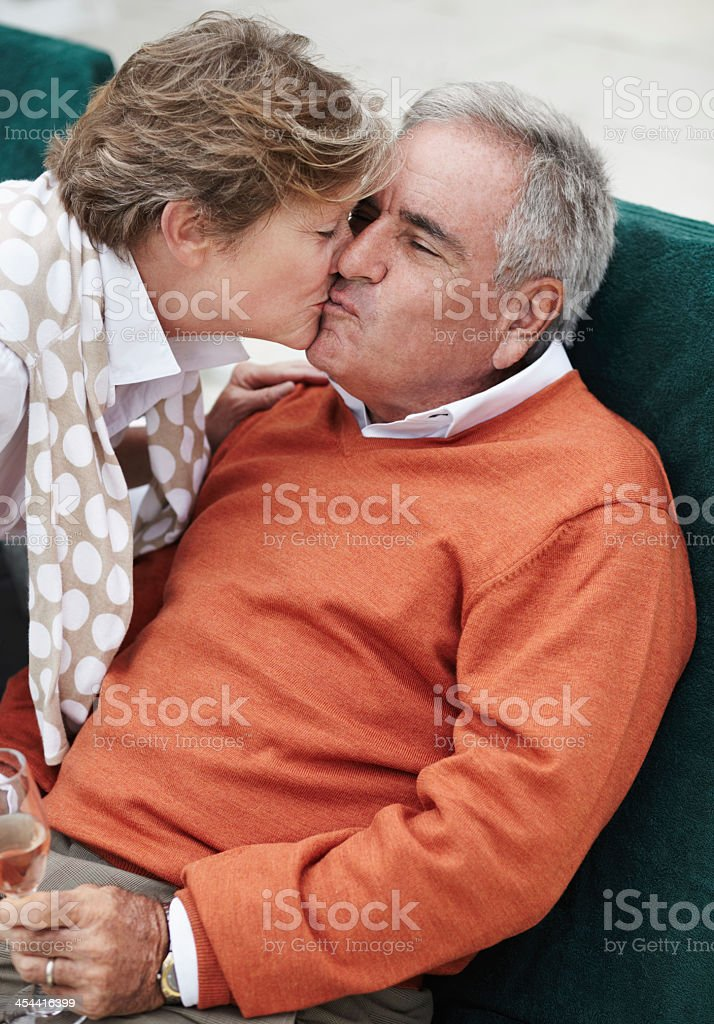 Showing him her love royalty-free stock photo