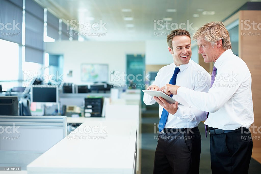 Showing him the ropes royalty-free stock photo