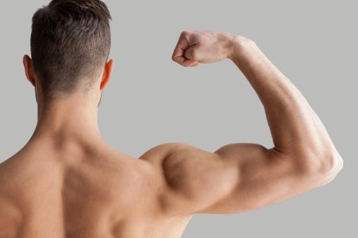 Mostrando Su Biceps Perfecto Foto de stock y más banco de imágenes de Adulto