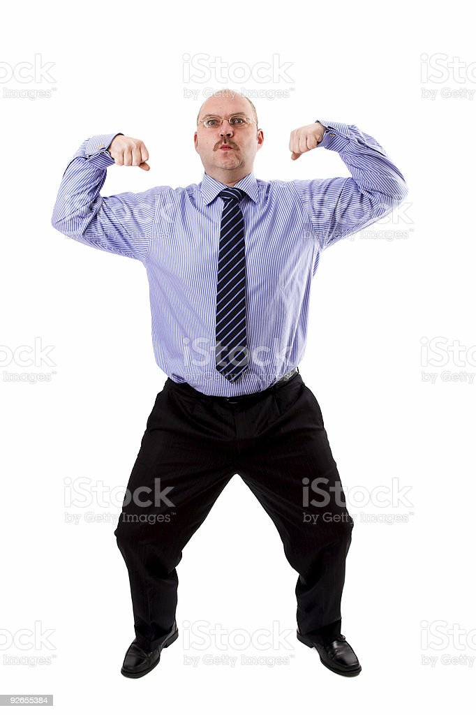 Showing his power royalty-free stock photo