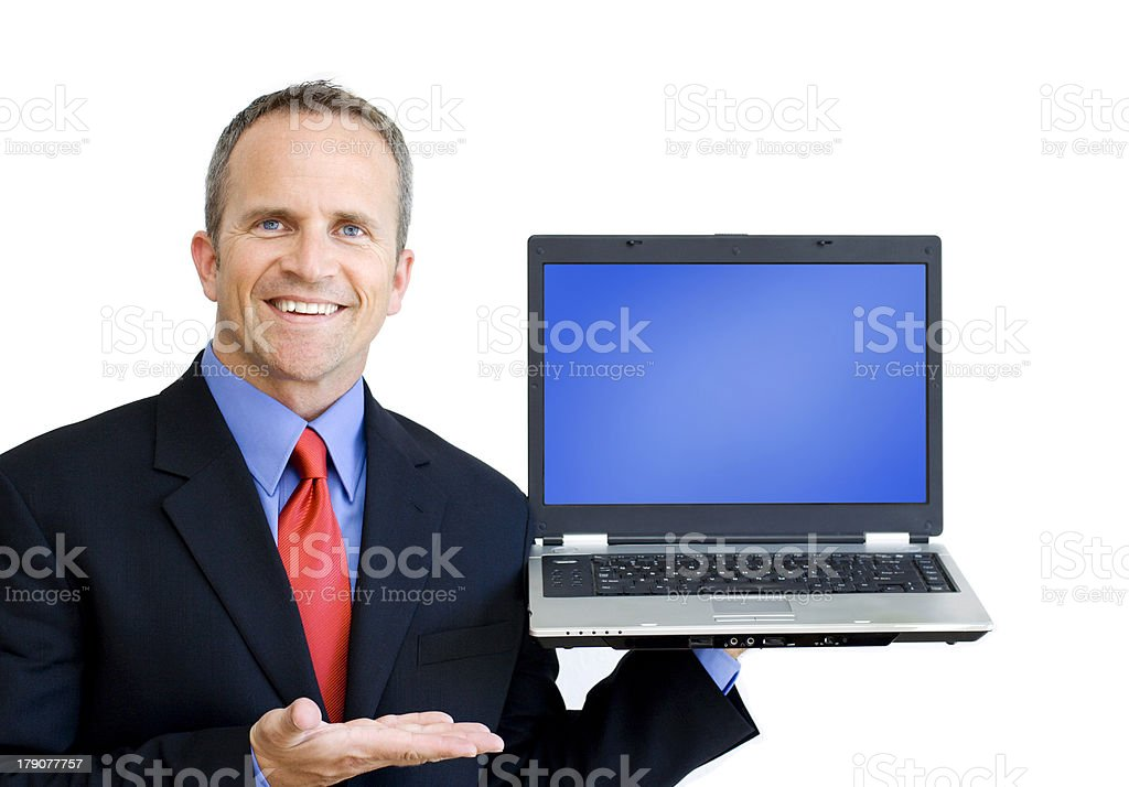 Showing Laptop stock photo