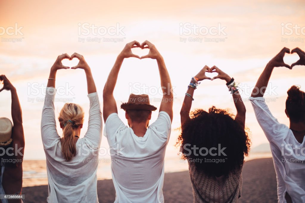 Showing love is best in summer time stock photo
