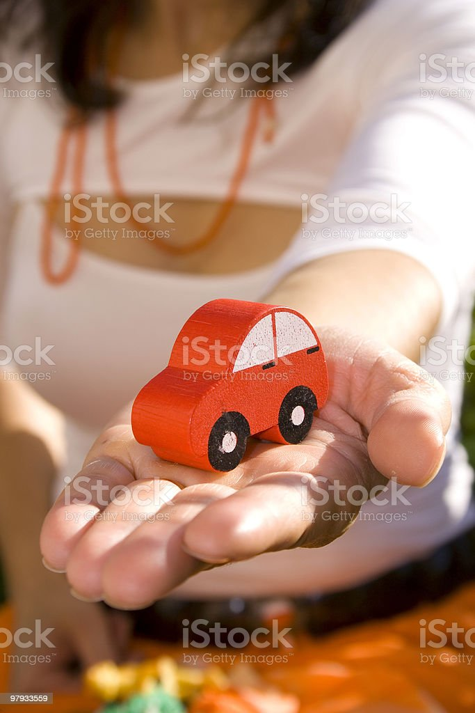 Showing my new car 1 royalty-free stock photo