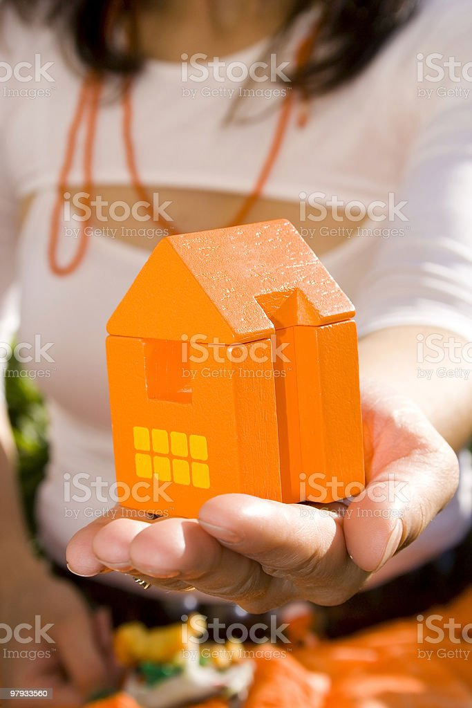 Showing my new house 1 royalty-free stock photo