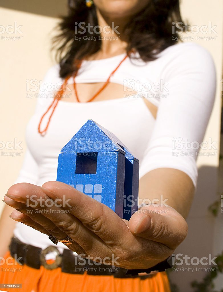 Showing my new house 3 royalty-free stock photo