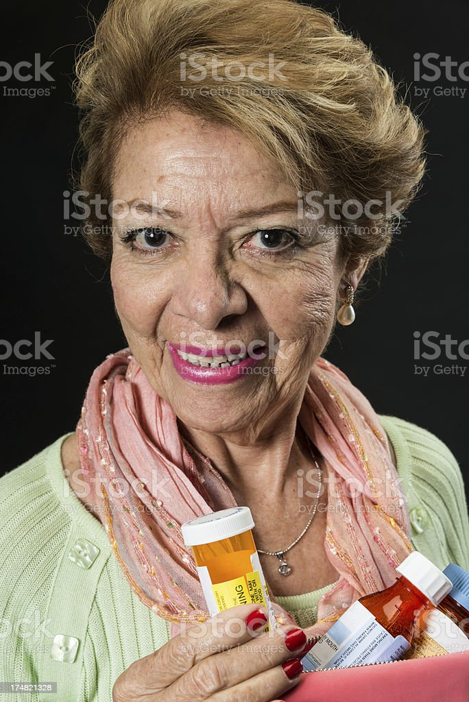 Showing my pills royalty-free stock photo