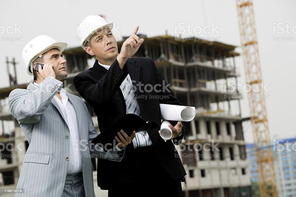 Showing new building royalty-free stock photo