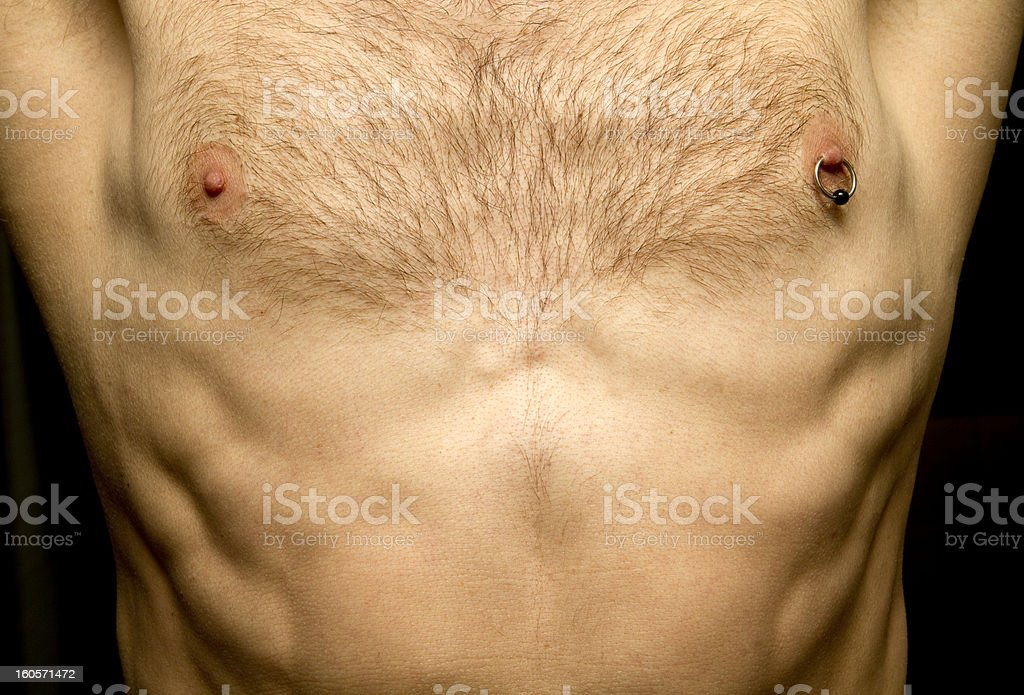 Showing Off A Pierced Nipple stock photo