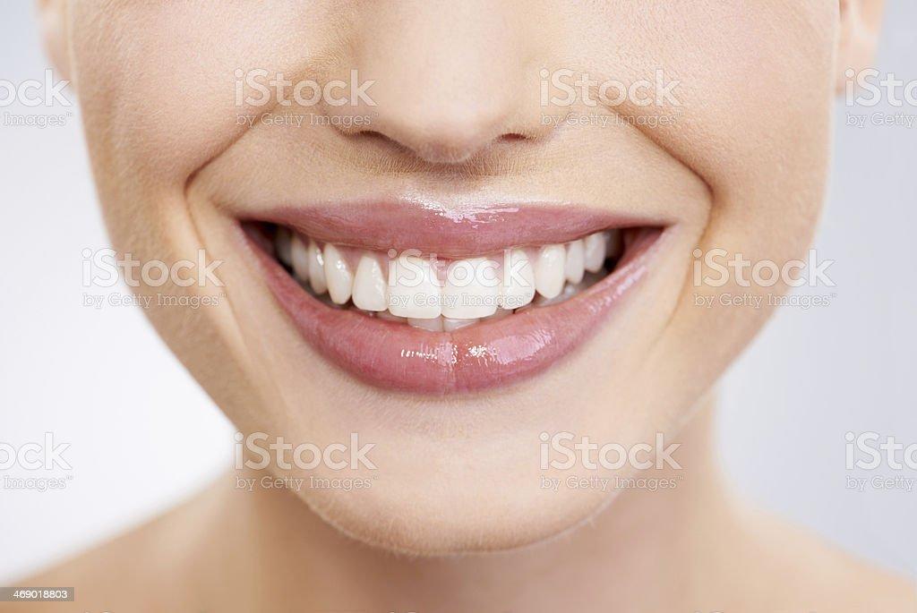 Mostrare il suo sorriso milioni di dollari - foto stock