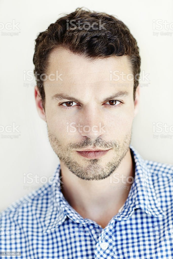 Showing off his designer stubble royalty-free stock photo
