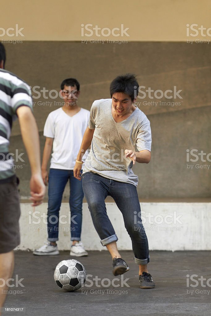 Showing off his mad skills! royalty-free stock photo