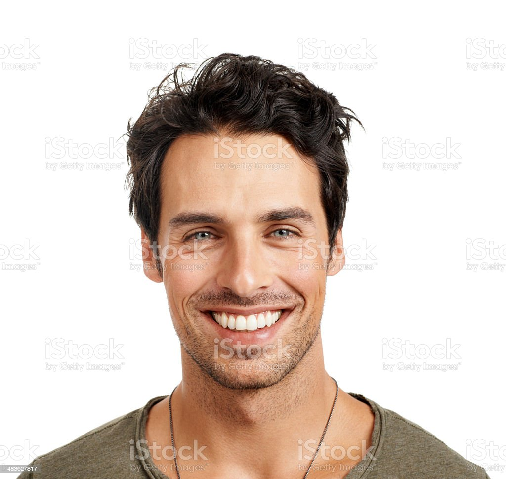 Showing off his pearly whites! stock photo