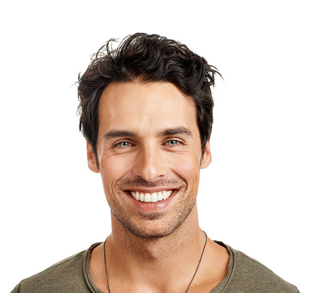 showing off his pearly whites! - handsome people stock photos and pictures