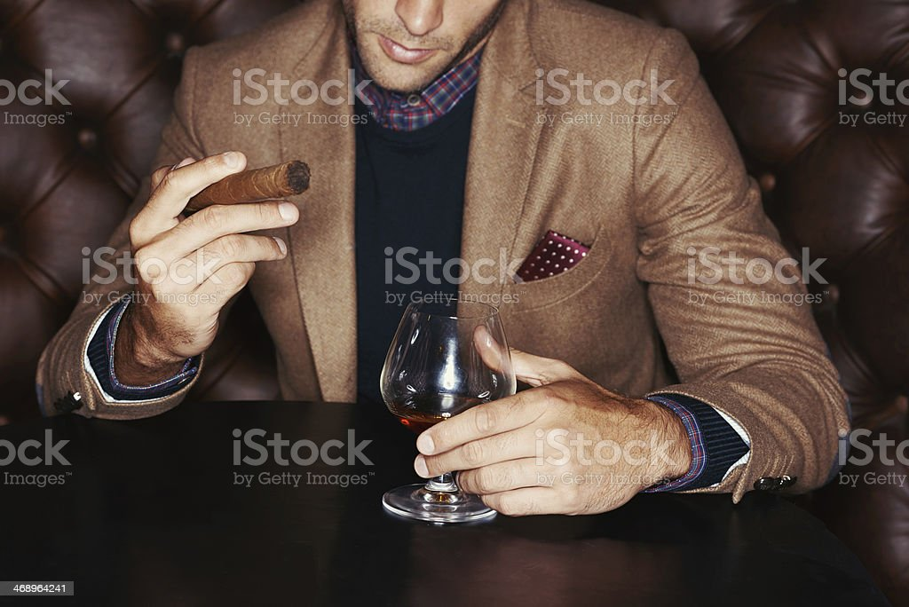Showing off his wealth stock photo