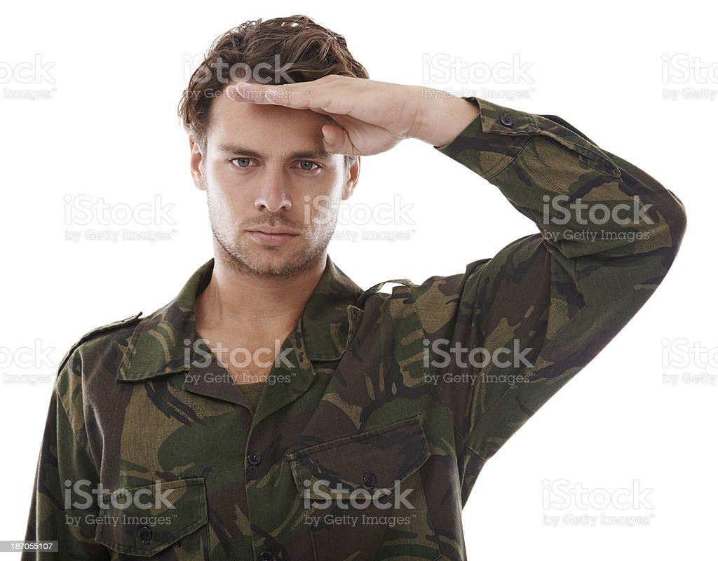 Showing respect to his superiors royalty-free stock photo
