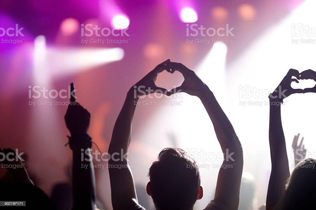 Showing some love for the band stock photo