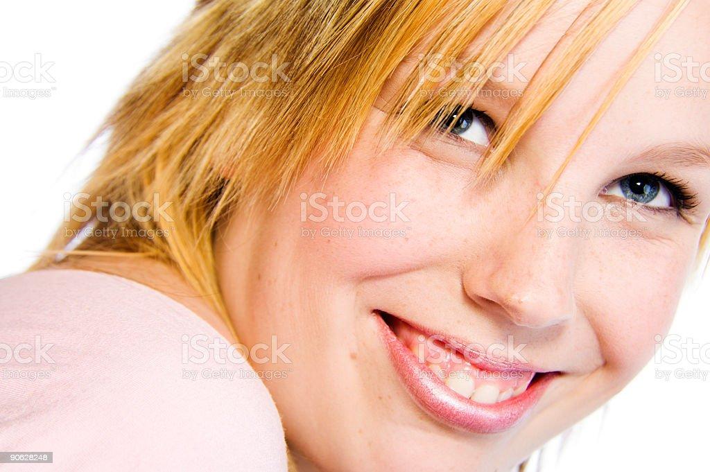 showing teeth royalty-free stock photo