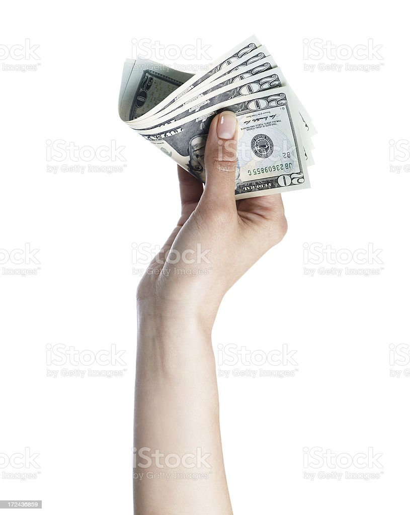 Showing the money royalty-free stock photo