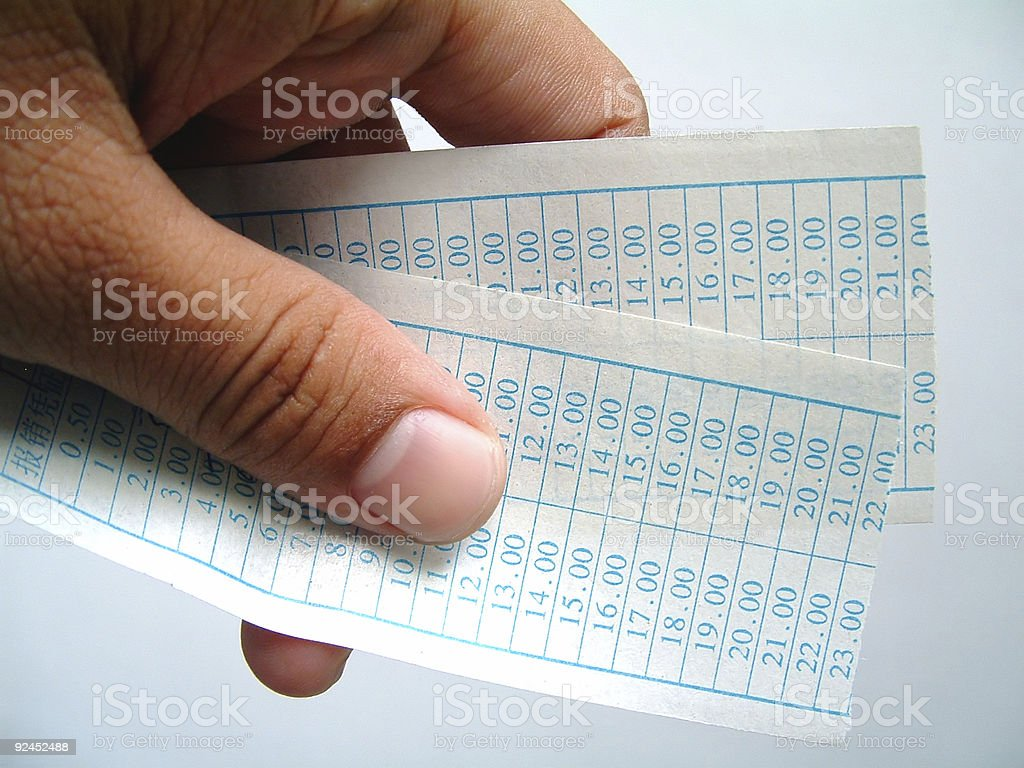 Showing Tickets royalty-free stock photo