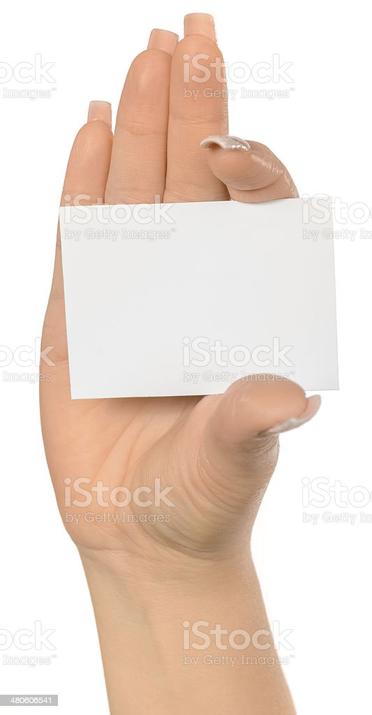 showing white card royalty-free stock photo