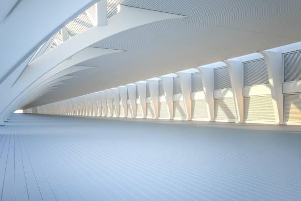 showroom auto moderne konkrete hintergrund bühne - tunnelkamin stock-fotos und bilder