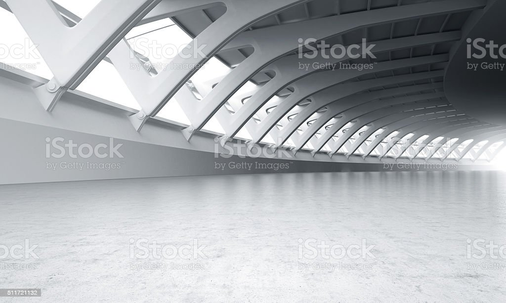 Showroom car modern concrete background stage stock photo