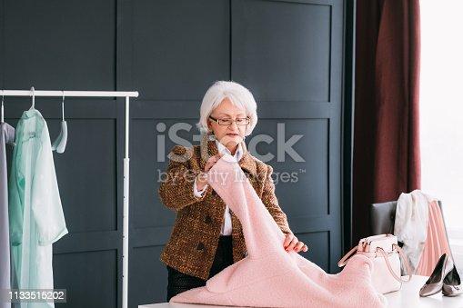 1133515238 istock photo showroom vip senior business woman shopping trendy 1133515202