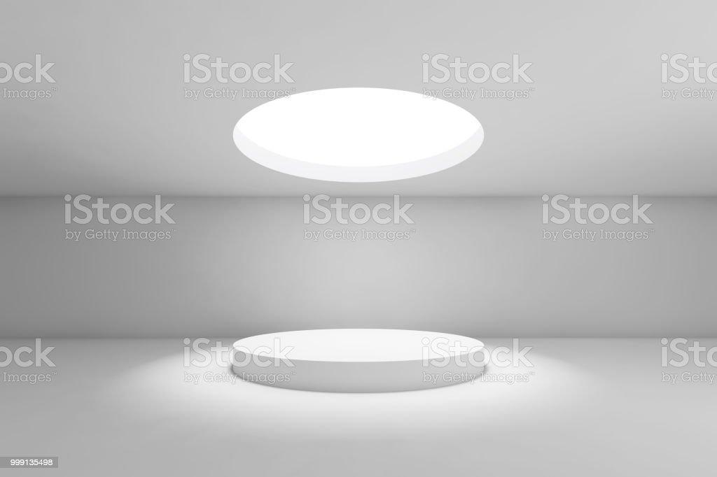 Showroom-Runde Deckenleuchte mit Tisch – Foto