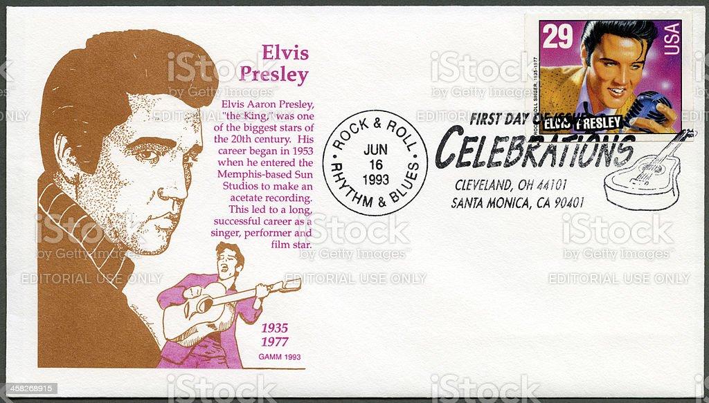 USA 1993 shows Elvis Presley, American Music Series stock photo