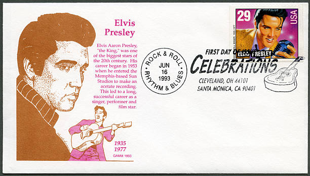 usa 1993 shows elvis presley, american music series - elvis stock photos and pictures
