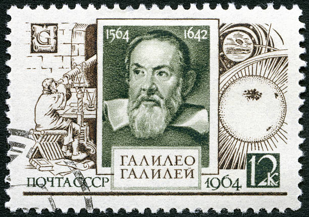 USSR 1964 shows Galileo Galilei (1564-1642), 400th birth anniversary USSR 1964 stamp printed in USSR shows Galileo Galilei (1564-1642), 400th birth anniversary, circa 1964 galileo galilei stock pictures, royalty-free photos & images
