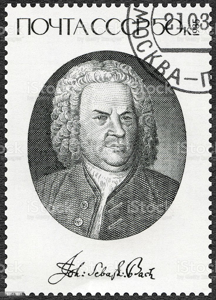 USSR 1985 shows Johann Sebastian Bach (1685-1750), Composer stock photo