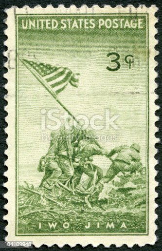 istock USA 1945 shows Marines Raising Flag Mount Suribachi, Iwo Jima 164109948
