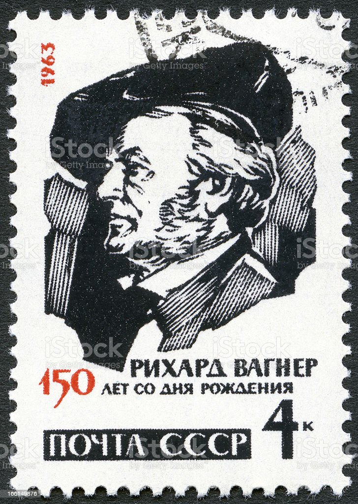 USSR 1963 shows Richard Wagner (1813-1883), German composers stock photo
