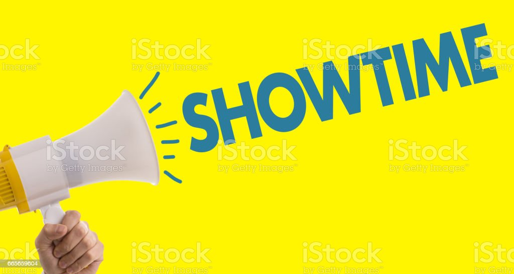 Showtime stock photo