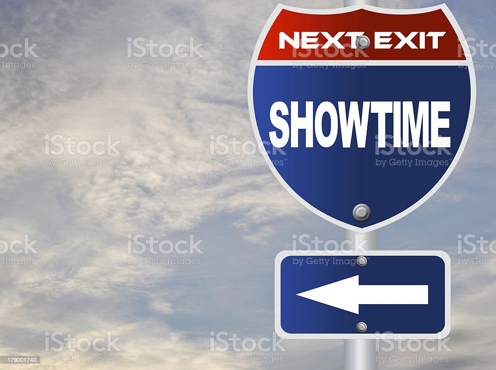 Showtime road sign royalty-free stock photo