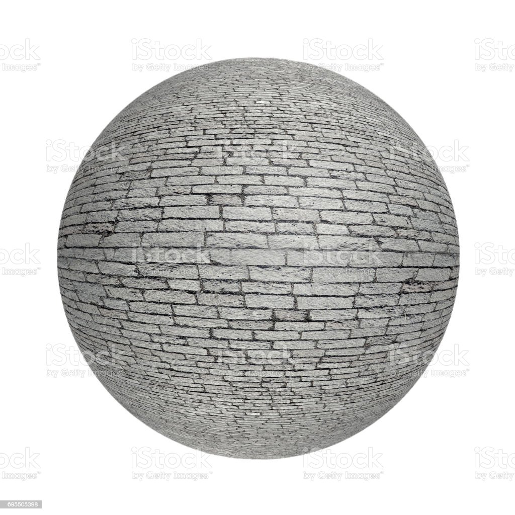 Shpere old cobblestone pavement. stock photo