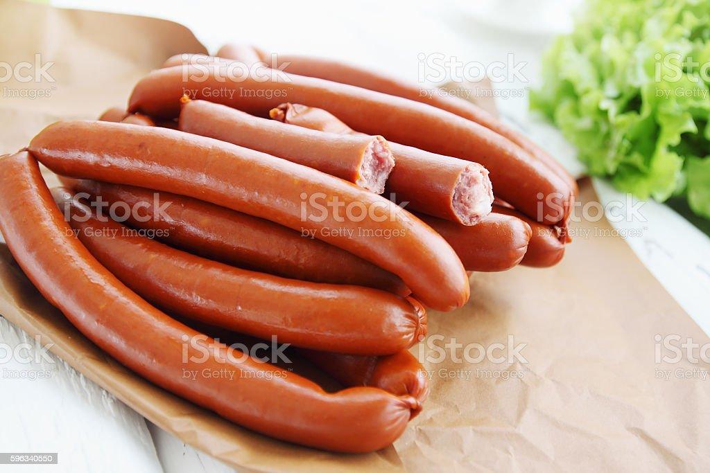shpikachki smoked sausage royalty-free stock photo