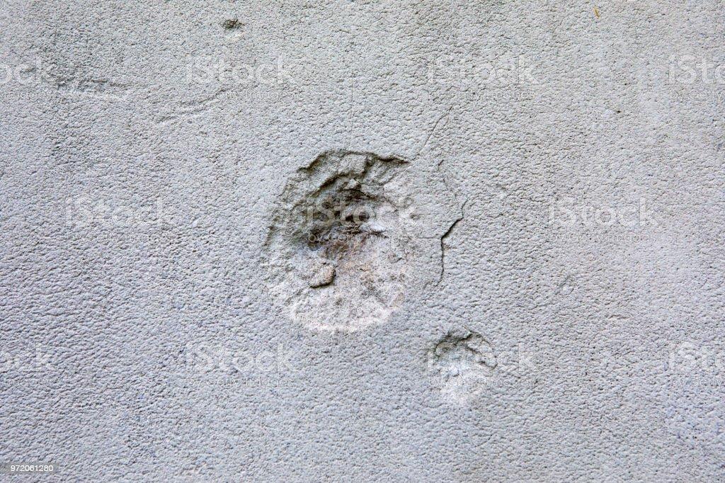 Shrapnel Damade in London from WW2 stock photo