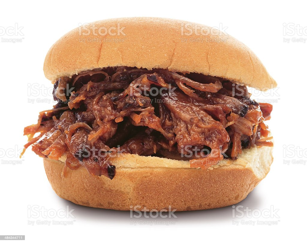 Shredded BBQ Sandwich (PATH) stock photo