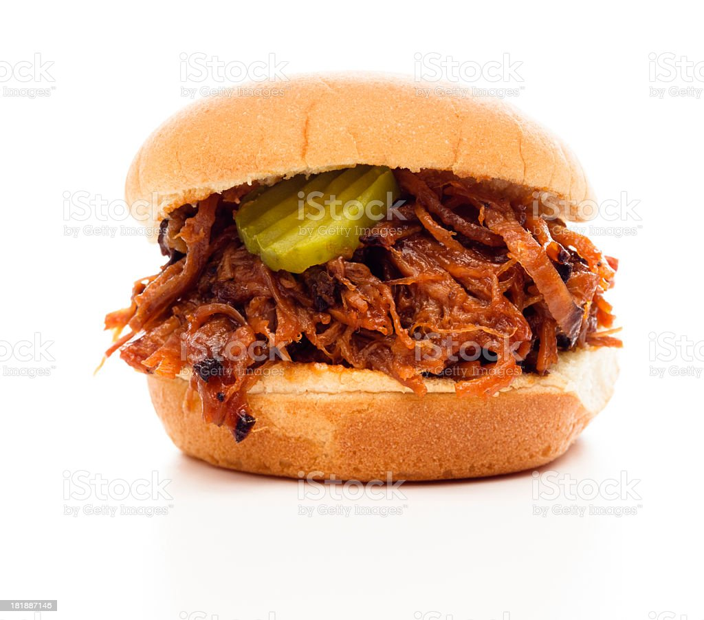 Shredded Beef Sandwich stock photo