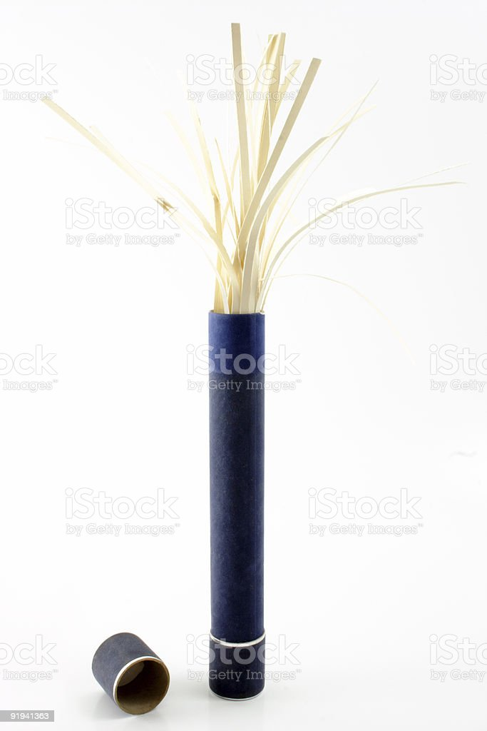 Shredded beige diploma royalty-free stock photo
