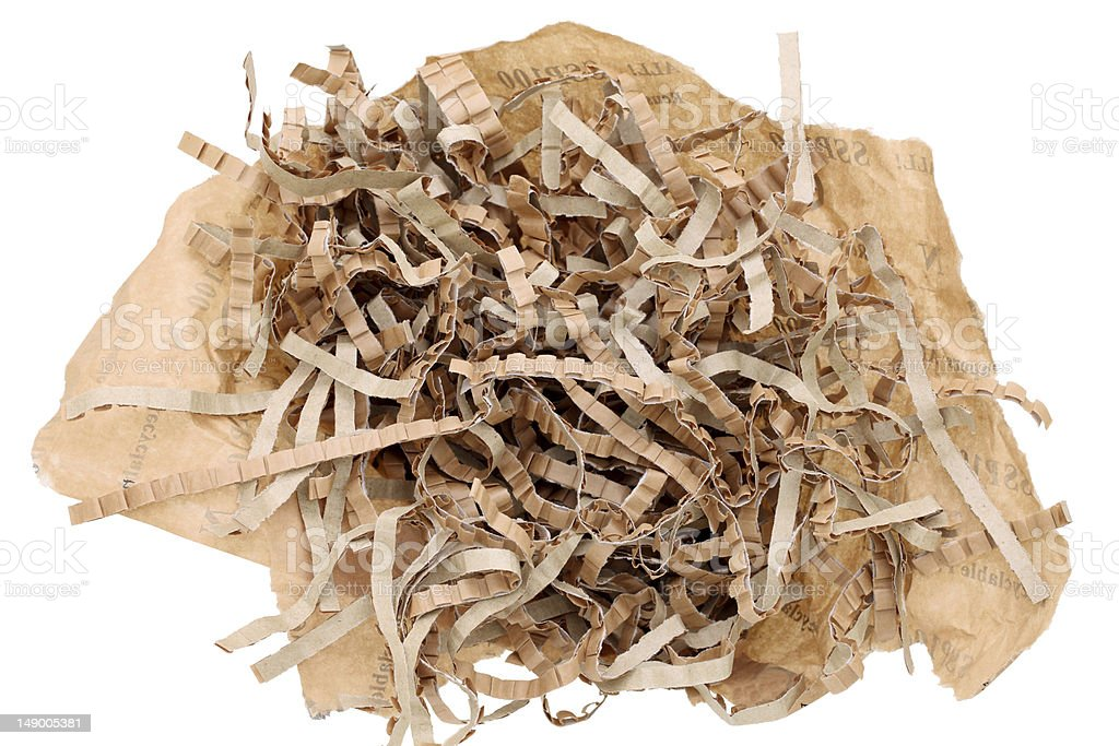 Shredded brown paper royalty-free stock photo