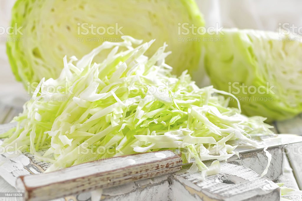 shredded cabbage stock photo