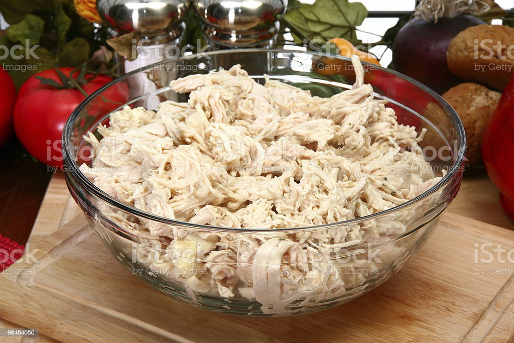 Shredded Chicken royalty-free stock photo