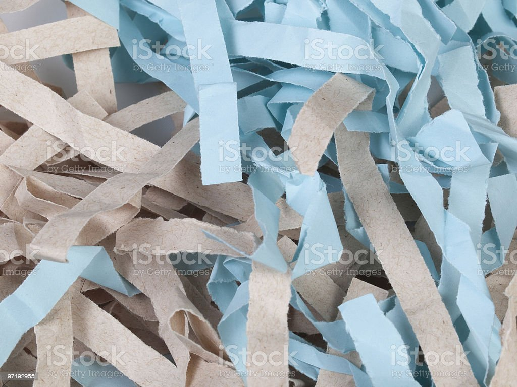 Shredded Colored Paper royalty-free stock photo