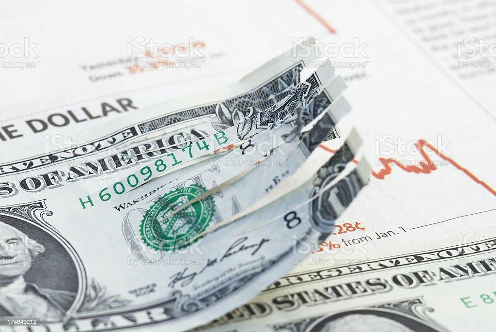 Shredded economy confidence - XIII royalty-free stock photo