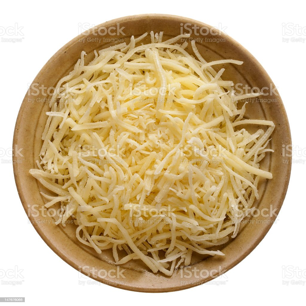 shredded mild cheddar cheese stock photo