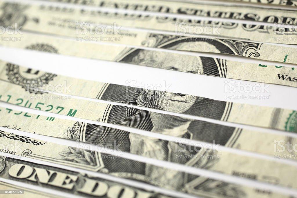 Shredded Money royalty-free stock photo