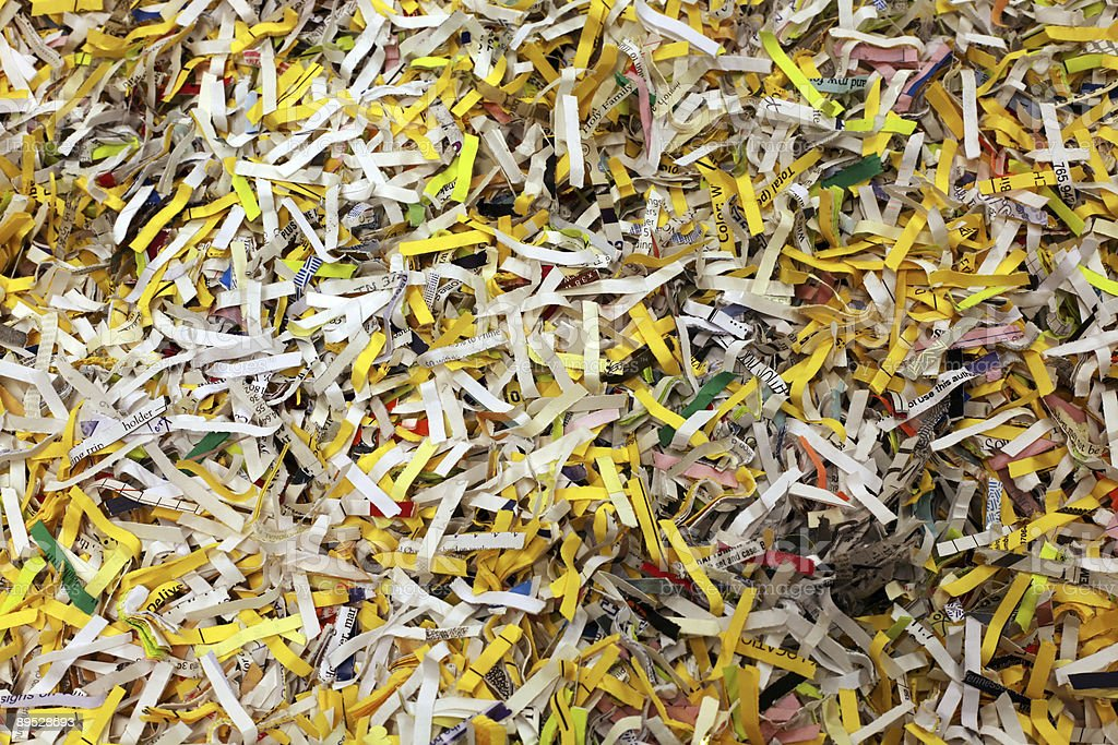 Shredded Paper 2 royalty-free stock photo